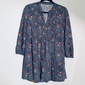 Old Navy | Woodland Floral Tunic Length Blouse